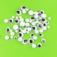 Wobbly Sew-on Eyes (30g pack) (approx. 180 eyes)