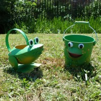 Frog Watering Can and Bucket
