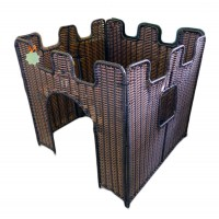 Plastic Wicker 4-Sided Castle (Factory Seconds)