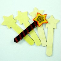 Wood Craft Sticks - Stars (10)